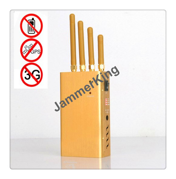 China Portable 4 Antenna 3W 3G Cellphone, GPS Jammer/Blocker - China Portable Jammer, 4 Antenna Jammer