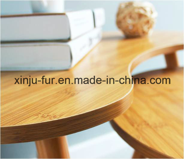 Solid Wood Bamboo Side Table (set of two)
