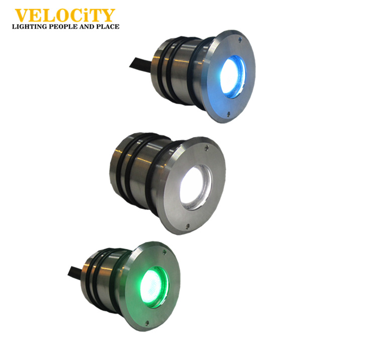 2W Full Color IP68 Stainless Steel LED Swimming Pool Light