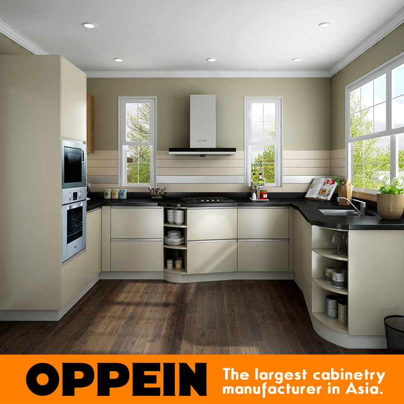 China oppein modern wholesale hpl melamine small kitchen for Kitchen set hpl
