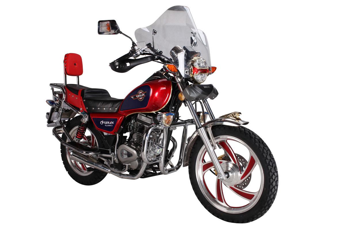 125/150cc Disc Brake Alloy Wheel Double Mufflers Motorbike (SL125-C2)