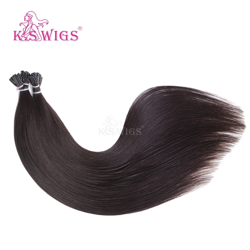 K. S Wigs New 2016 I Tip Hair Keratin Hair Extension 100% Brazilian Human Hair