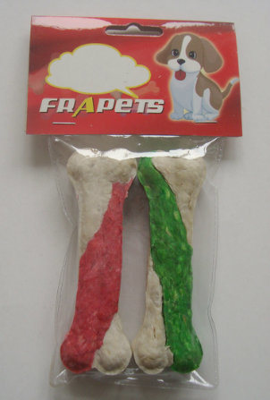 Dog Chew of Double Colors Munchy Pressed Bone for Dog