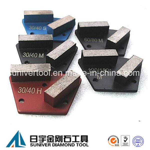 2 Segments Concrete Trapezoid Grinding Segment
