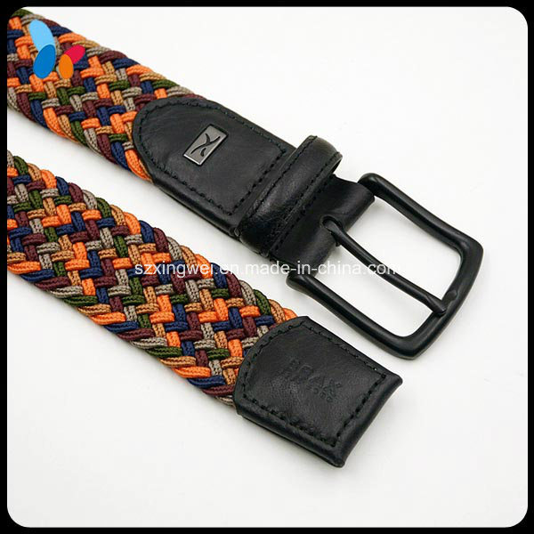 Mixed Color Knit Polyester Elastic Belt for Women