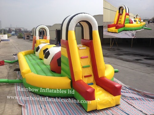 Inflatable Running Football Tunnel and Inflatable Sports Toy Rb91009