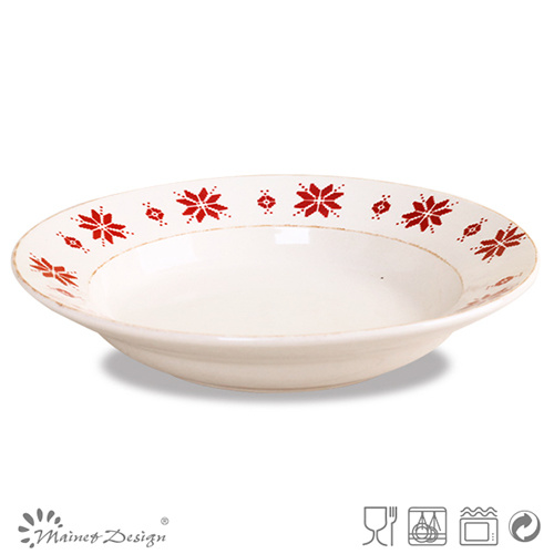 Stamp Ceramic Stoneware Soup Plate
