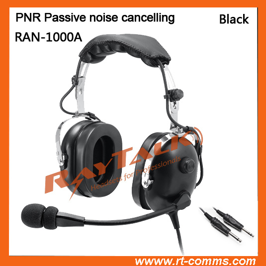 Noise Cancelling Aviation Headset Pnr with Dual Plugs
