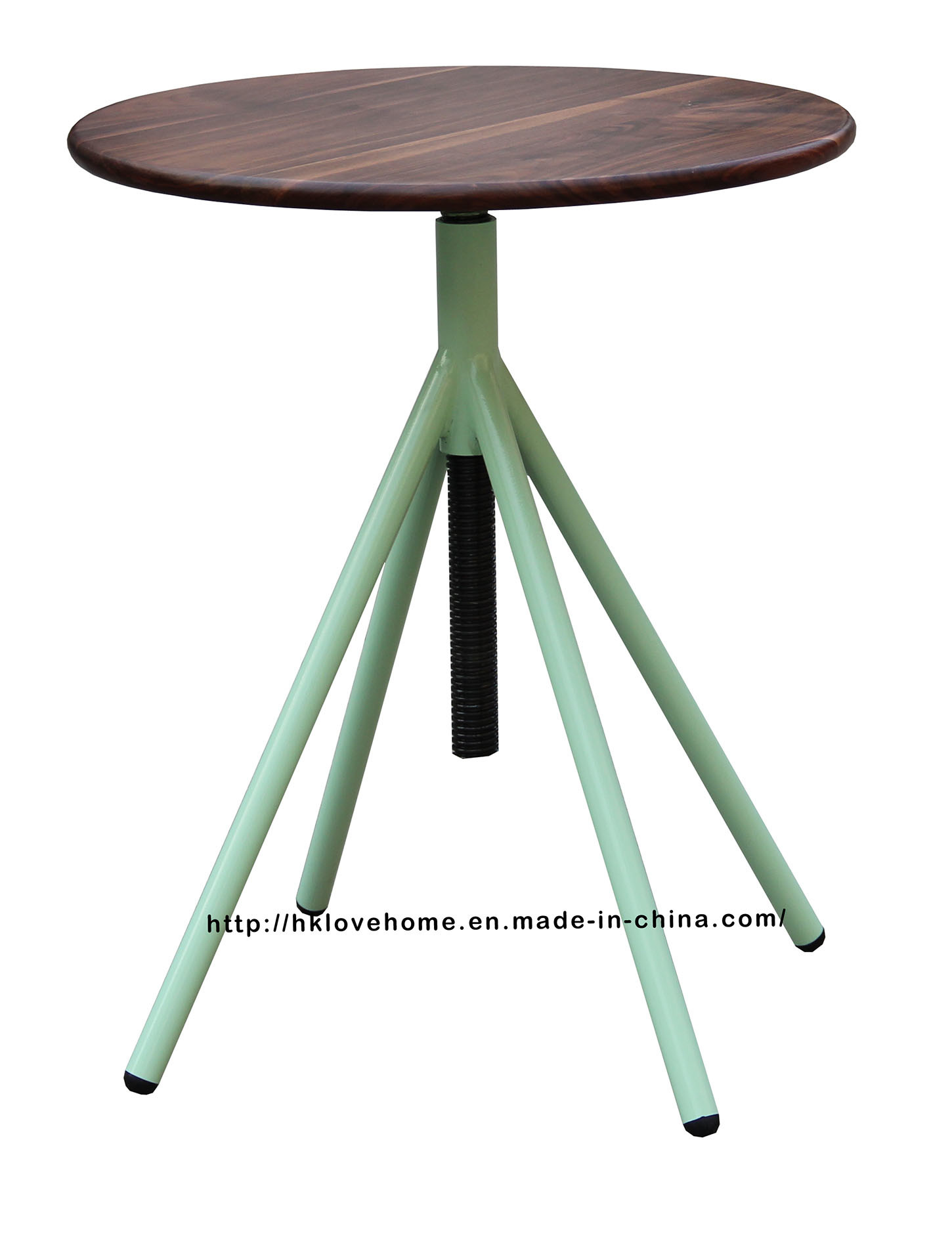 Industrial Metal Restaurant Wooden Vintage Swivel Dining Table
