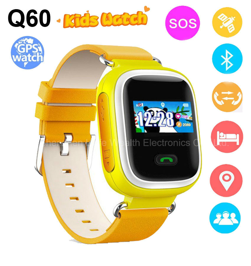 Smart Baby Watch Q60 Wristwatch Sos Call Location Finder Locator Device Tracker for Kid Safe Anti Lost Monitor Baby Gift Q60
