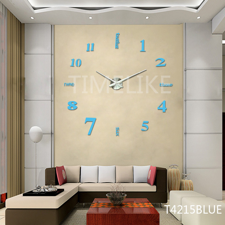 China Large Luxury Diy 3d Wall Clock Home Decor Bell Cool Mirror Stickers Art Watch China Home