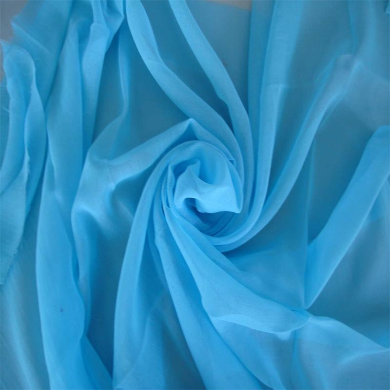 Polyester 60s X 60s Grey Voile Fabric