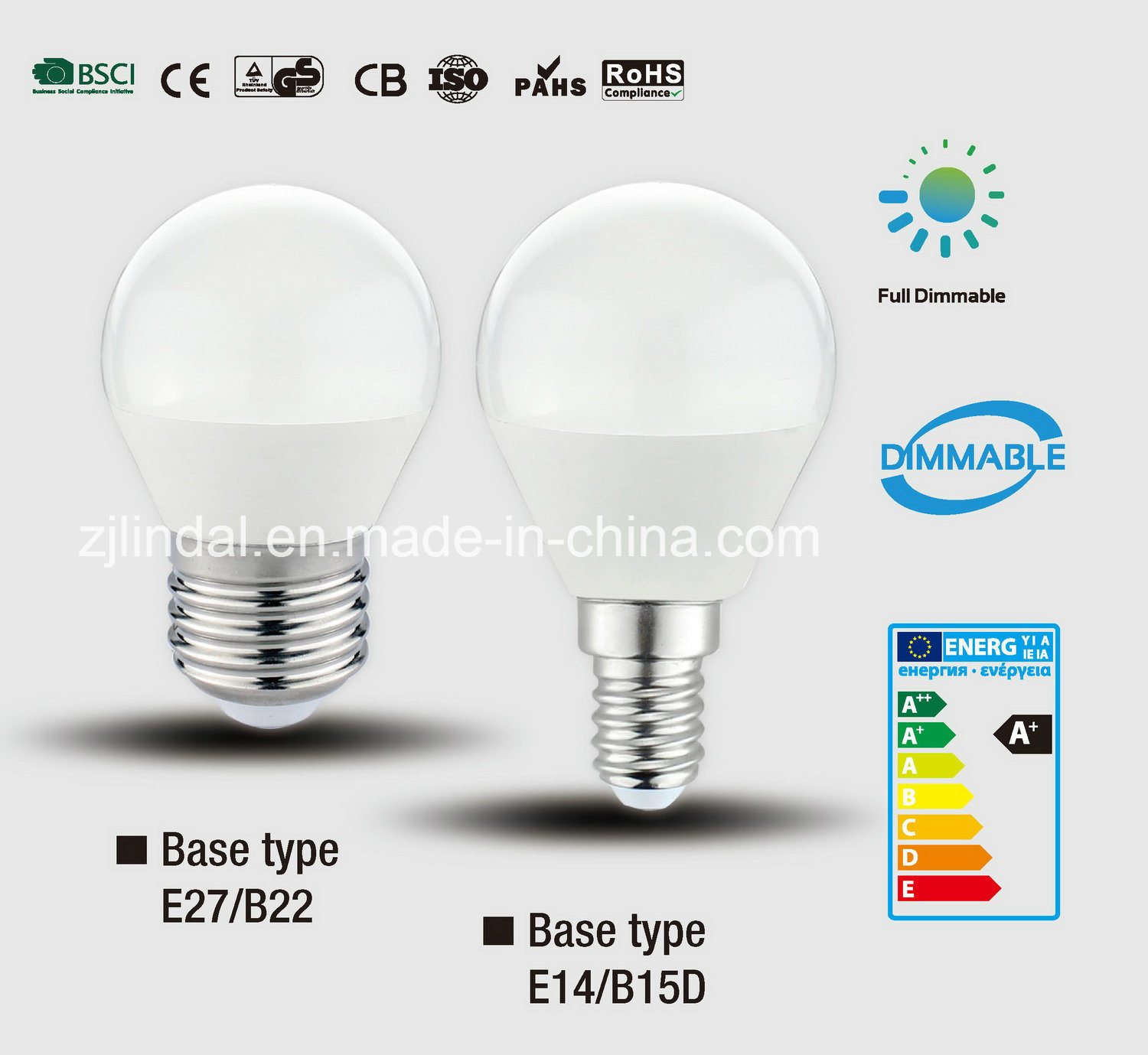 Dimmable LED Bulb G45-Sbl