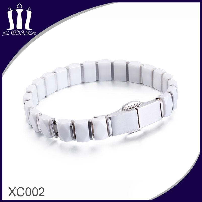 Customized Fashion Style White Ceramic Bracelet for Ladies