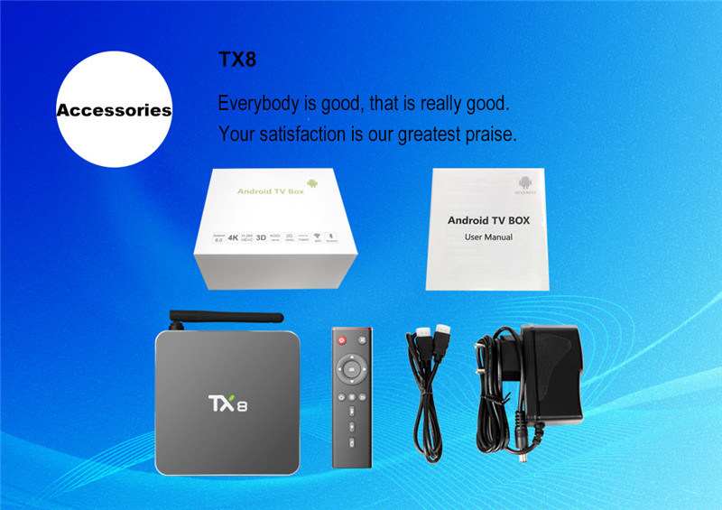 2016 New Model Amlogic S912 Octa Core Tx8 Android6.0 Smart Set Top Box with 2GB RAM and 32GB ROM Smart Media Player