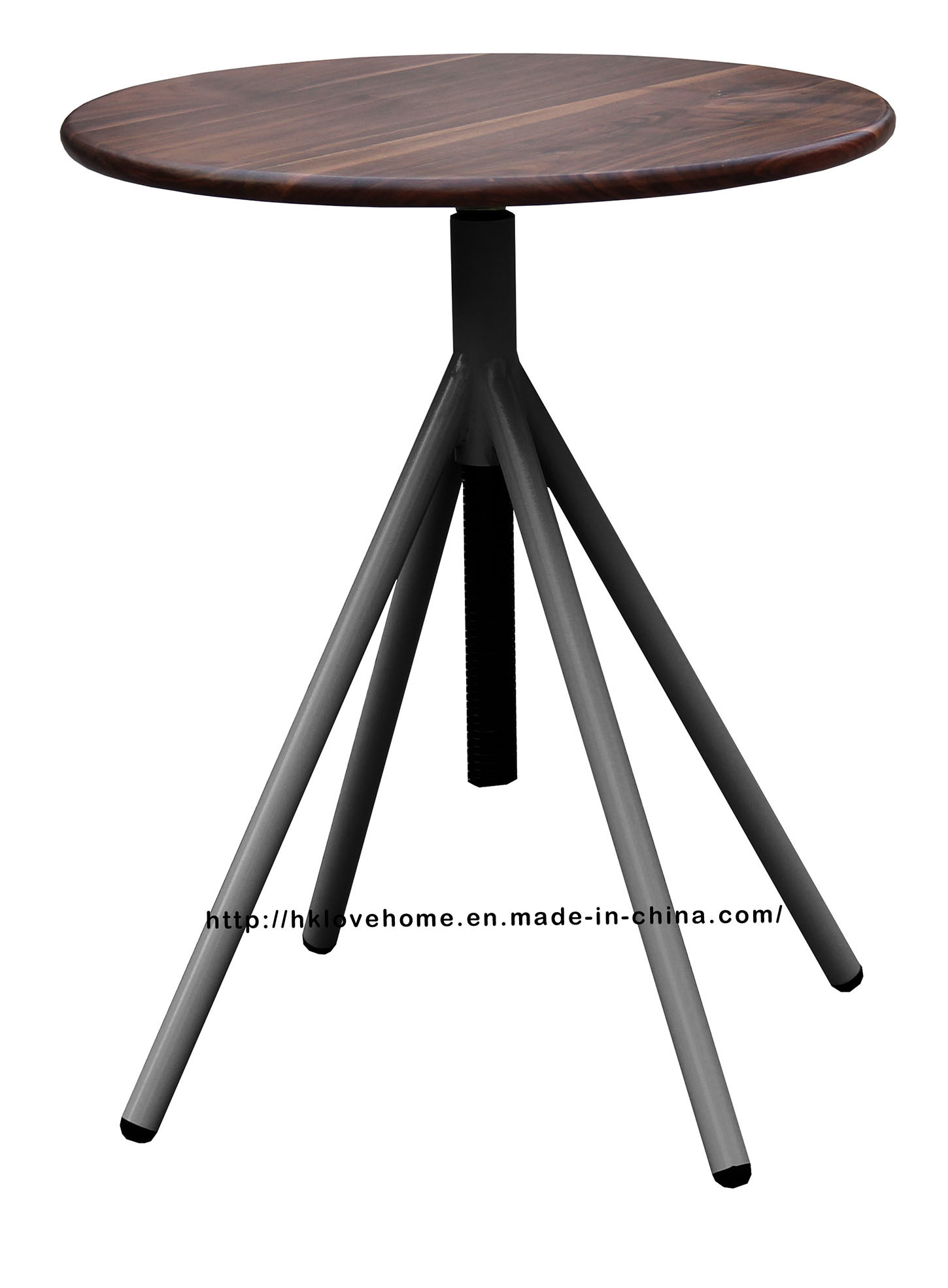 Industrial Metal Restaurant Wooden Vintage Swivel Dining Table