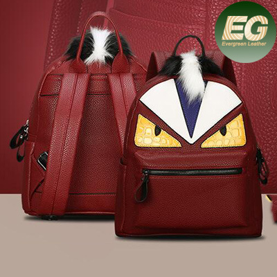 Popular Wholesale Handbags Designer School Bag Leather Monster Travel Backpack (SY7894)