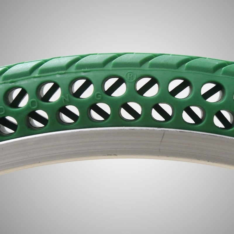 China Manufacturer Top Quality Solid Rubber Coloured Bike Tyres 16*1.5 Solid Free-Inflation Tire for Folding Bikes Road Bike MTB