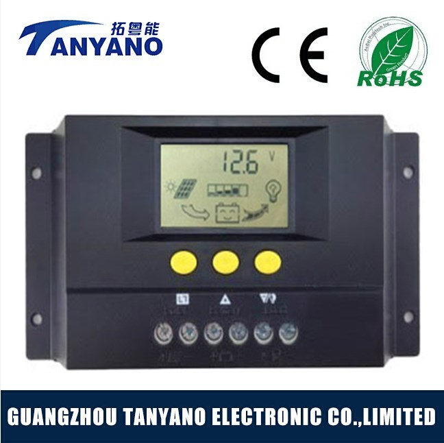 Hot Sale 12V/24V 30A PWM Solar Charge Controller with LCD Display