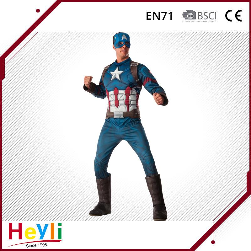 Movie Hero Captain America Cosplay Costume for Party Idea