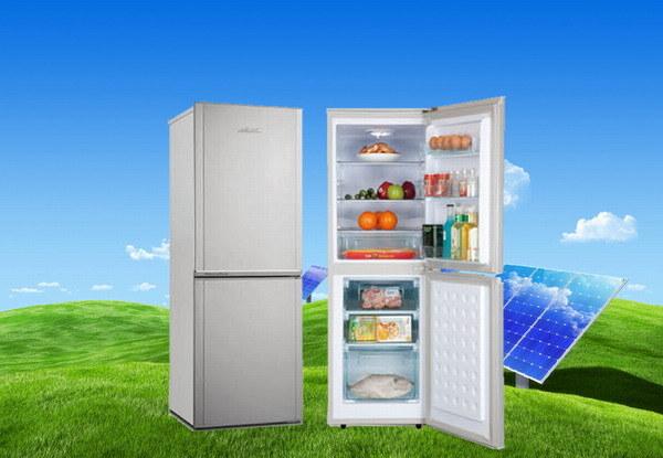 Purswave Bcd-188 188L DC12V24V Solar Fridge Vehicle Refrigerator Double Door Freezing & Cooling Style Compressor Refrigerating Freezer for Car Motor Bus Auto
