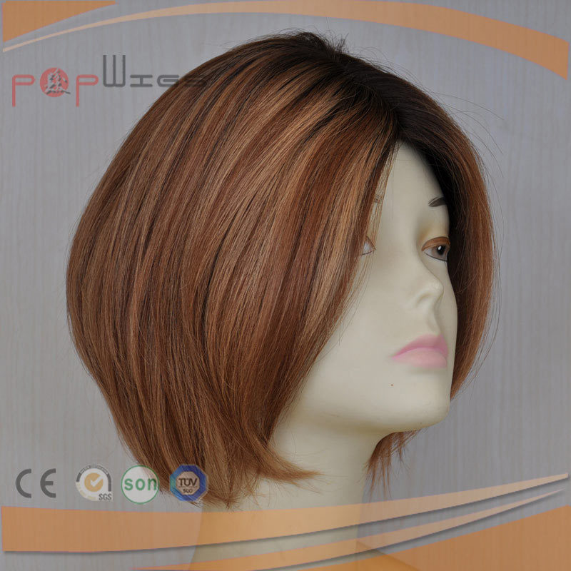 Bob Style Human Hair Silk Top Beautiful Wig