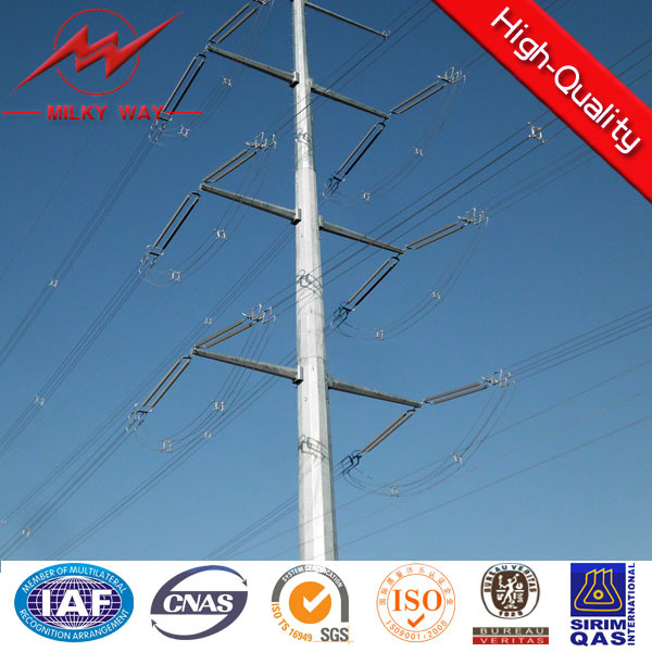H-Frames Galvanized Steel Pole Structures
