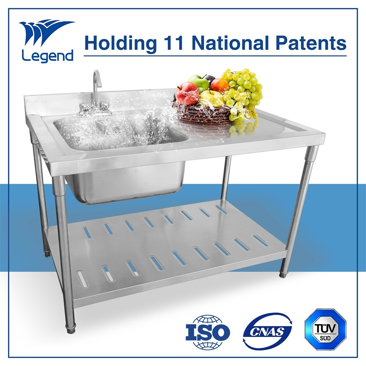 Top Rated Stainless Steel Prep Table with Sink