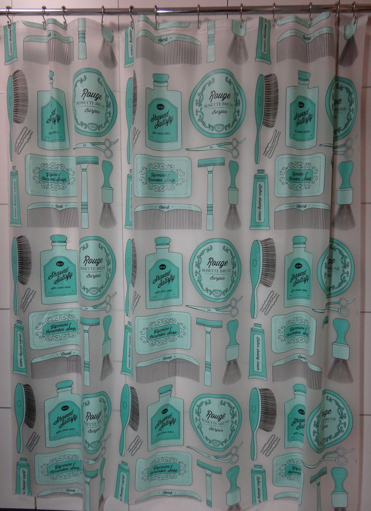 Bathroom Tools Printing Eco-Friendly PEVA Shower Curtain