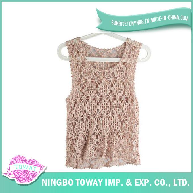 Hand Crochet High Fashion Lady Wool Knitting Vest-05
