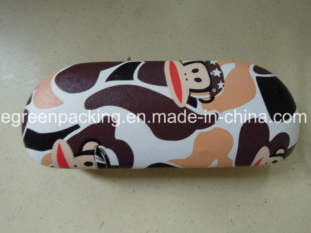 Eyeglasses Metal Case Covered Digital Print PU Leather (DF5)