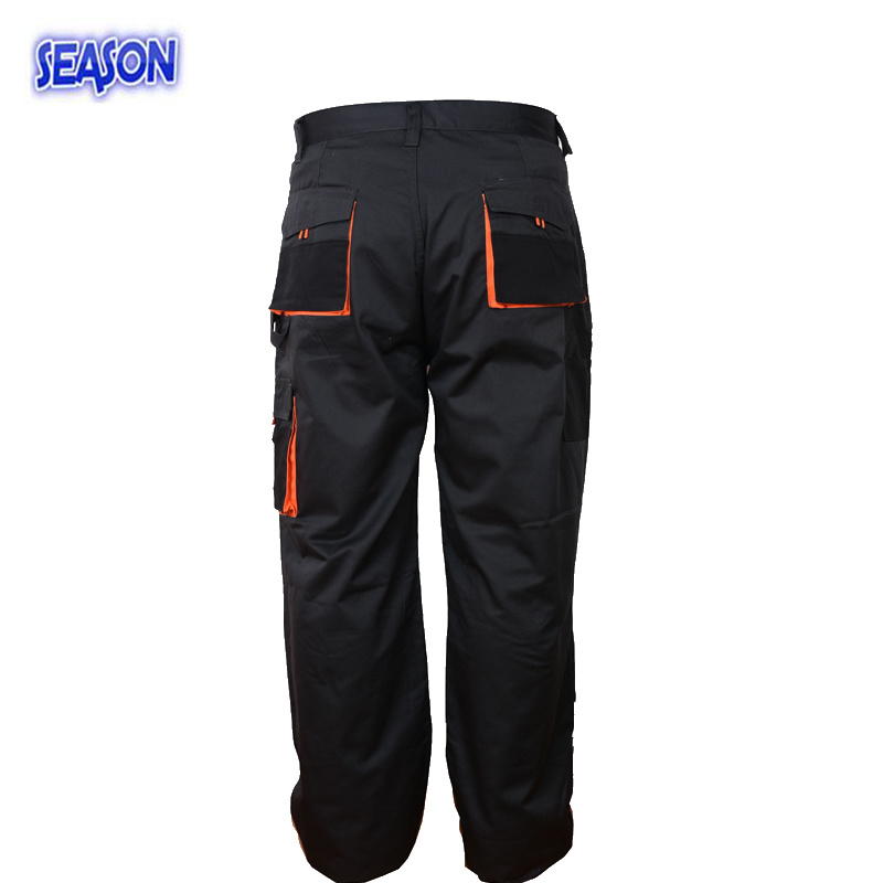 Multi-Pocket Trousers Black Pants Protective Apparel Workwear Clothing