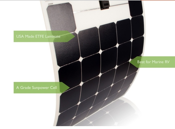 ETFE Sun Power Solar Cell Flexible Solar Panel 50W
