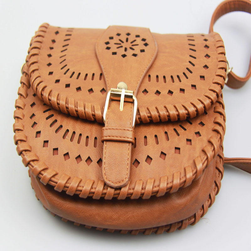 Ladies Elegent PU laser Cut Handbag Korea Style Handbag