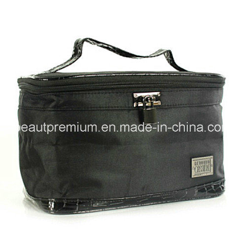 Black Portable Rectangle 300d Cosmetic Bag  Make up Bag BPS046