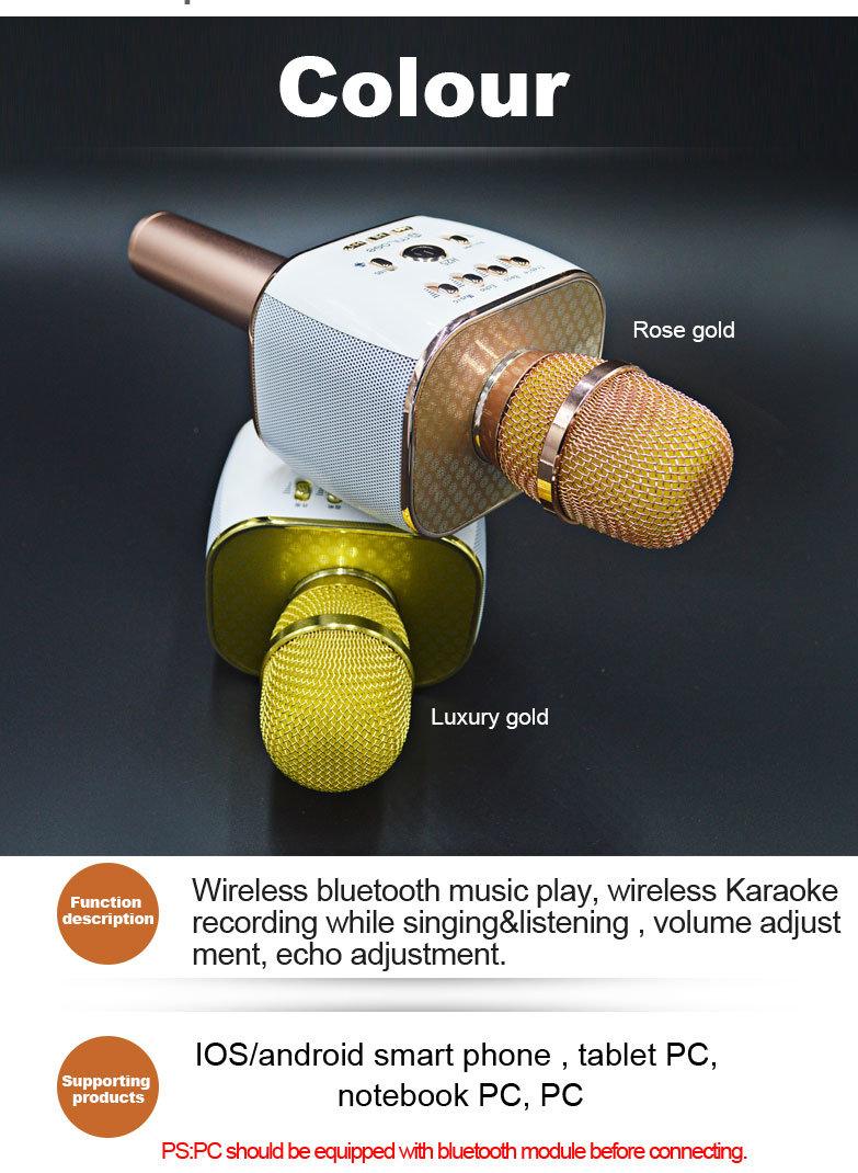 Android Karaoke Microphne Professional Microphone Handheld Wireless Bluetooth Karaoke Microphone