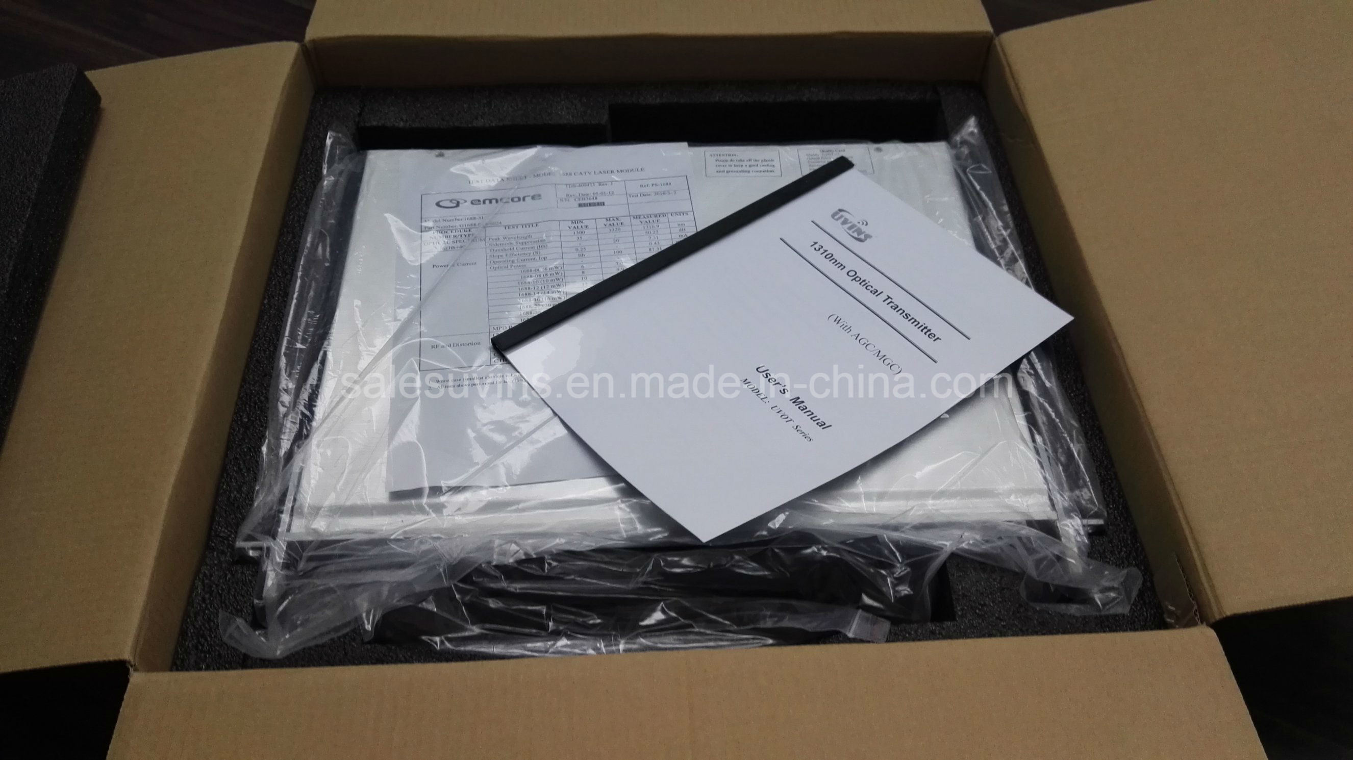 CATV 1310nm Fiber Optical Transmitter Ortel 4MW-31MW
