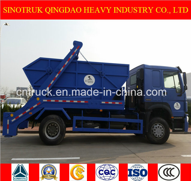 12m3 Sinotruk 4X2 Skip Loader Truck, Garbage Truck and Refuse Truck with Cheap Price