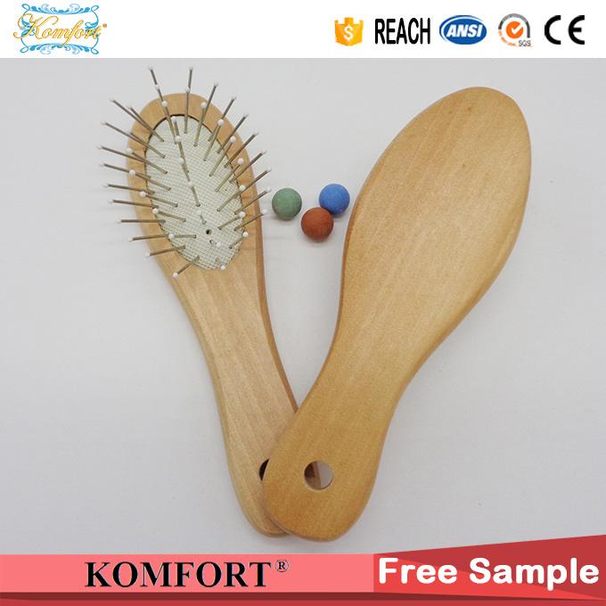 Mini Nylon Detangling Hair Brush, Baby Comb Wood Brush Hair (JMHF-150)