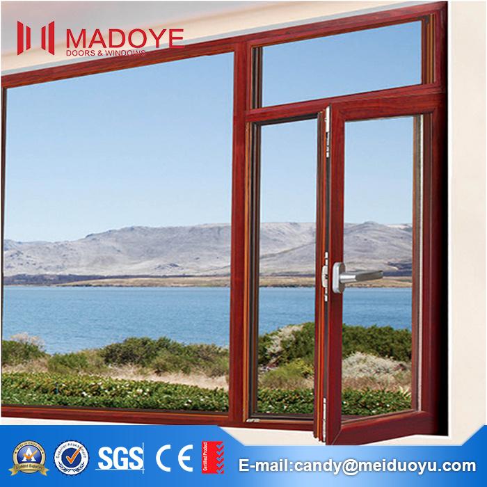 5mm Tempered Glass Aluminum Casement Window Price and Design