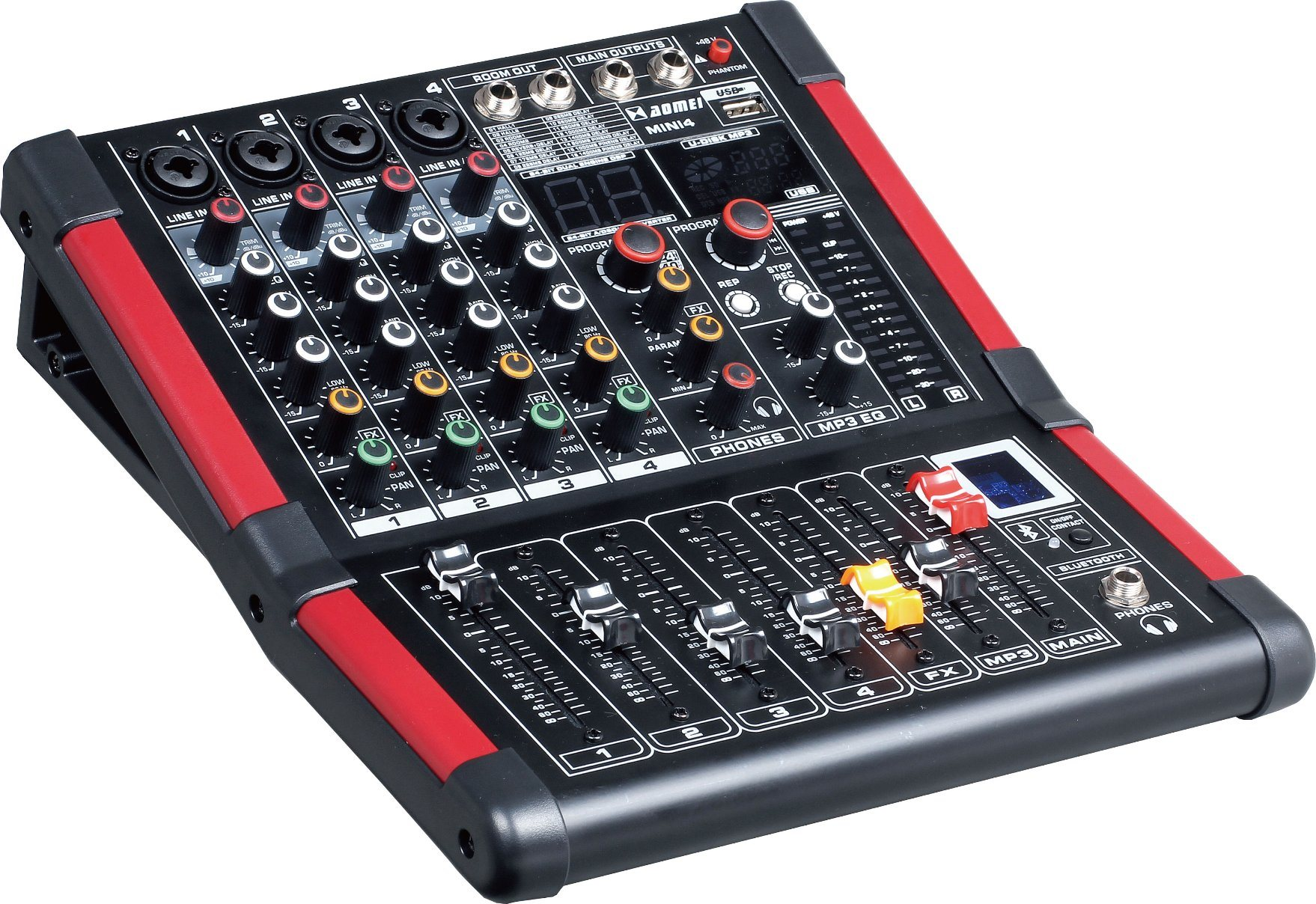 Special New Design Smaller Mixer Mini4 Series Professional Amplifier