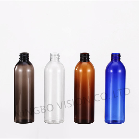 8 Oz Blue Pet Cosmo Plastic Bottle