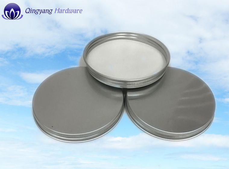 Metal Aluminum Caps for White Glass Jar and Plastic Bottle