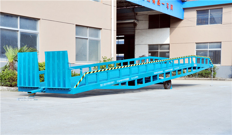 on Sales 10tons Mobile Hydrauic Loading Ramp (DCQY8-0.8)