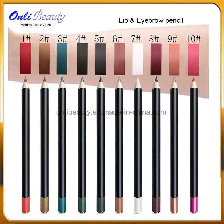 10 PCS Lip & Eyebrow Water-Proof Permanent Makeup Design Pencil