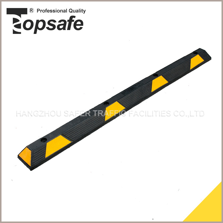 183cm Wheel Stopper with Yellow, Blue, White Reflector