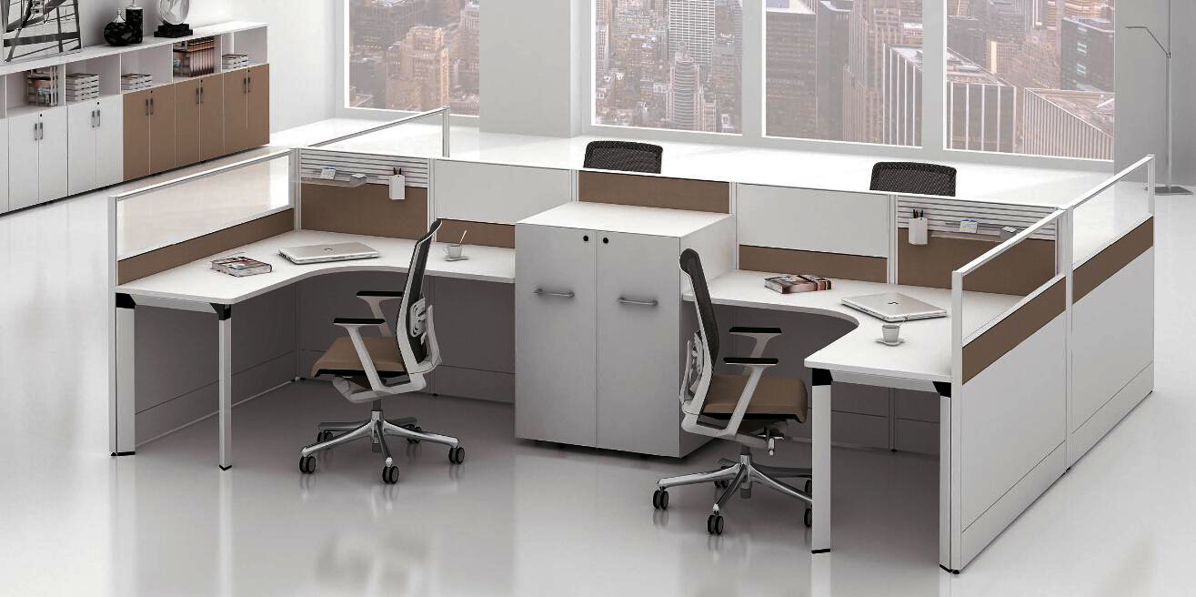 Modern Aluminum Glass Wooden Cubicle Workstation / Office Partition (NS-NW045)