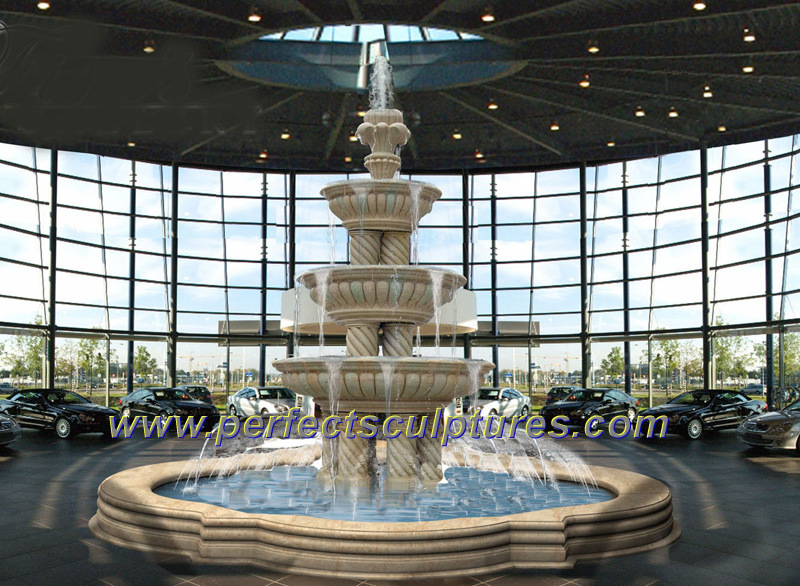 Marble Fountain for Garden Stone Water Fountain (SY-F199)