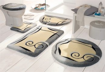 Bathroom Hardware Sets on Bath Rug Set Anti Slip  5pcs Set   China Bath Rug  Bath Mat