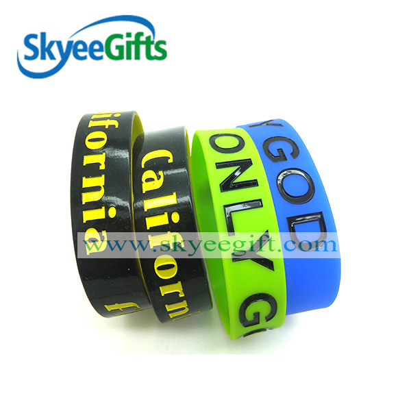 Promotional Gifts Printing Logo Silicone Wristband for Star Fans